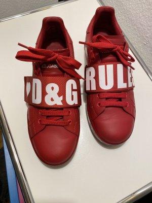 Dolce Gabbana Portofine Sneaker Rot 40