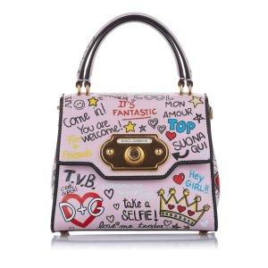 Dolce&Gabbana Printed Leather Satchel