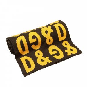 Dolce & Gabbana Bufanda negro Lana