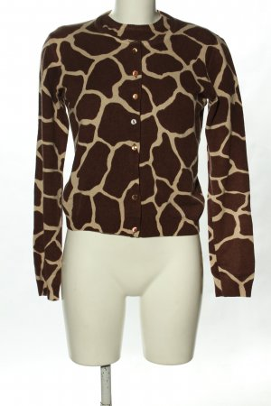 Dolce & Gabbana Jersey Twin-Set marrón-crema Cachemir