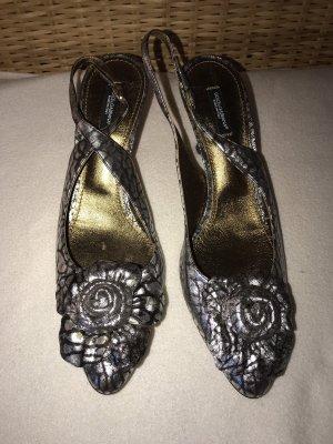 Dolce & Gabbana Escarpin à bride arrière blanc-noir