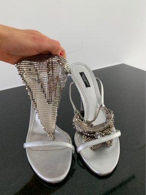 Dolce & Gabbana Décolleté con cinturino argento Pelle