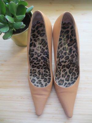 Dolce & Gabbana Pumps Gr.38 High Heels 9cm Absatz Leder
