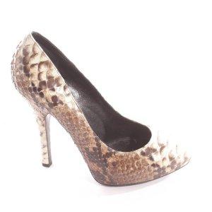 DOLCE & GABBANA Pumps Gr. 39 Weiß Braun Damen Schuhe