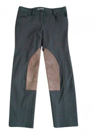 Dolce & Gabbana Riding Trousers black-light brown cotton