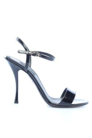 "Dolce & Gabbana Riemchen-Sandaletten ""Sandals Polished Calfskin"" schwarz"