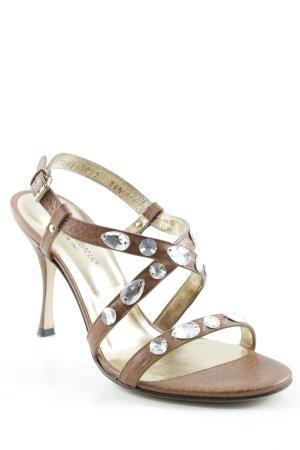 "Dolce & Gabbana Riemchen-Sandaletten ""Pitone Roccia"" braun"