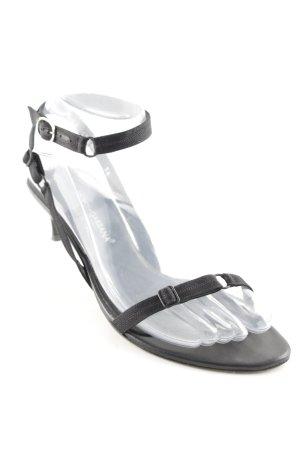 Dolce & Gabbana Riemchen-Sandaletten schwarz Elegant