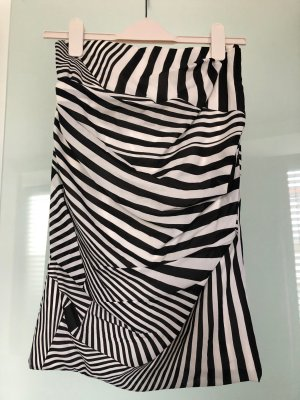 Dolce & Gabbana Silk Skirt white-black silk