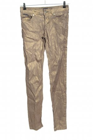 Dolce & Gabbana Spodnie rurki złoto Błyszczący