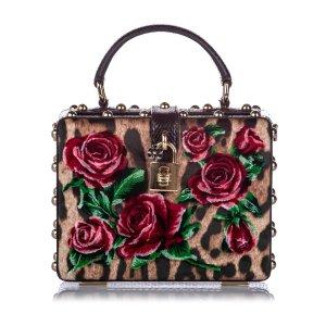 Dolce&Gabbana Rose Box Velvet Satchel