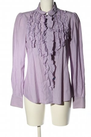 Dolce & Gabbana Rüschen-Bluse lila Casual-Look