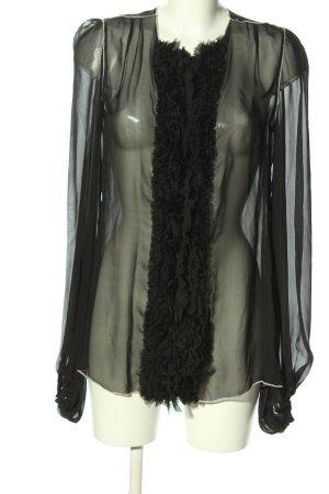 Dolce & Gabbana Rüschen-Bluse schwarz extravaganter Stil