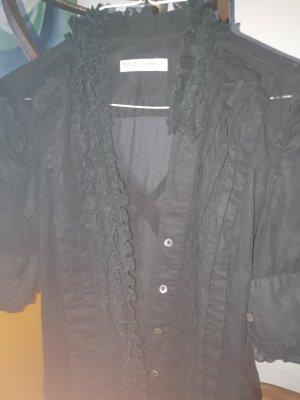 Dolce & Gabbana Blusa con volantes negro Algodón