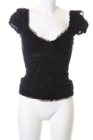 Dolce & Gabbana Top met franjes zwart elegant