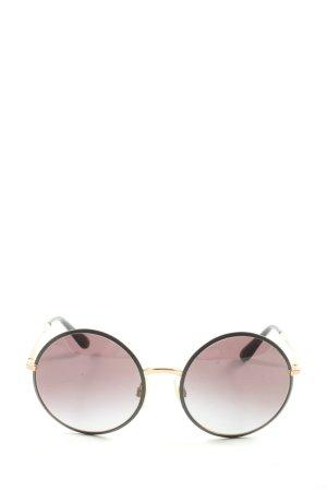 Dolce & Gabbana Gafas de sol redondas negro-marrón look casual