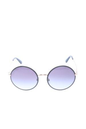 Dolce & Gabbana runde Sonnenbrille schwarz-goldfarben Casual-Look