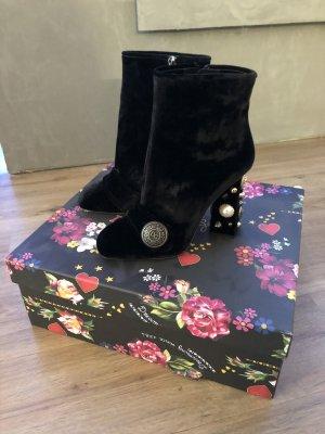 Dolce&Gabbana Samt Stiefeletten Ankle Boots