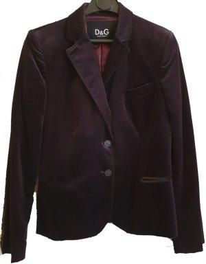 Dolce & Gabbana Jersey blazer donkerbruin Fluweel