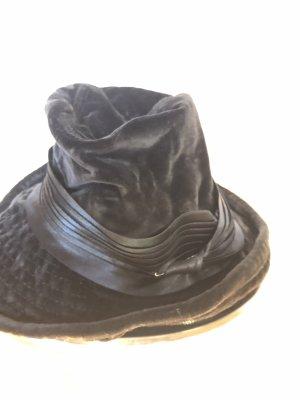 Dolce & Gabbana Miękki kapelusz z szerokim opuszczonym rondem czarny Jedwab