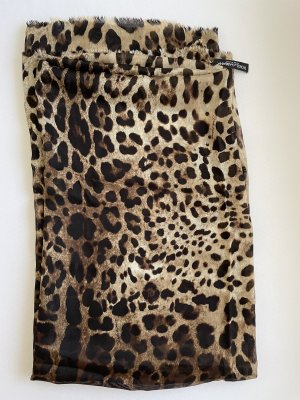 Dolce & Gabbana Bufanda de seda marrón oscuro