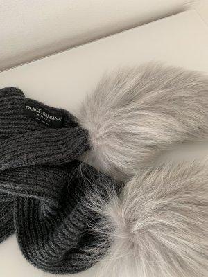 Dolce & Gabbana Bufanda de lana gris claro-gris oscuro