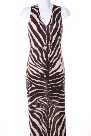 Dolce & Gabbana Tube Dress brown-natural white animal pattern casual look