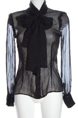 Dolce & Gabbana Stropdasblouse zwart zakelijke stijl