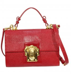 Dolce & Gabbana Schultertasche in Rot aus Leder
