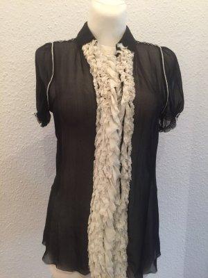 Dolce & Gabbana Blouse à manches courtes noir-blanc