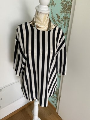 Dolce & Gabbana Blouse en soie noir-blanc