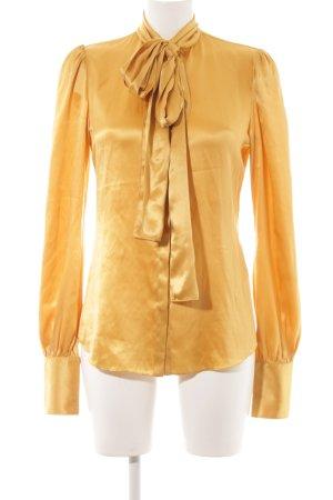 Dolce & Gabbana Seidenbluse goldfarben Glanz-Optik