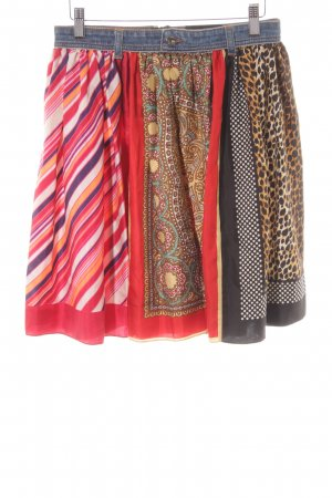Dolce & Gabbana Silk Skirt mixed pattern extravagant style