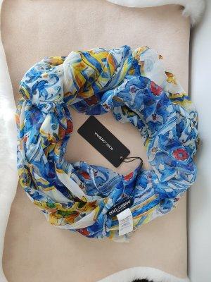 Dolce & Gabbana Bufanda de seda multicolor