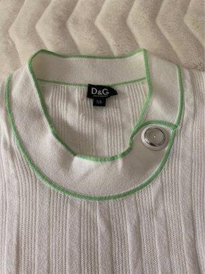 Dolce & Gabbana Camicia maglia bianco-verde chiaro