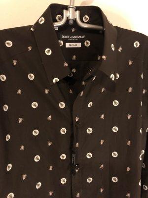 Dolce & Gabbana Camicia denim marrone