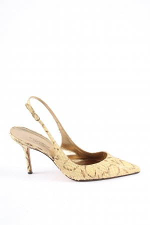 Dolce & Gabbana Slingback-Pumps creme Allover-Druck Business-Look