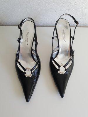Dolce & Gabbana Slingpumps Pumps Echtleder schwarz