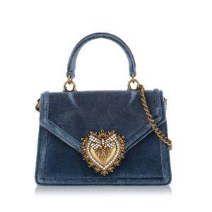 Dolce & Gabbana Mochila de colegio azul Fibra sintética