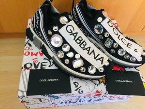 Dolce & Gabbana Sneaker slip-on nero-bianco