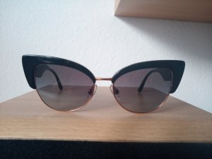 Dolce & Gabbana Retro Glasses black-gold-colored