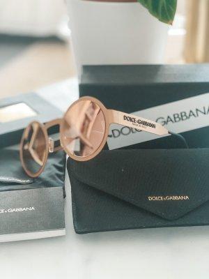 Dolce & Gabbana Gafas de sol redondas color rosa dorado-crema