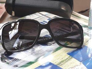 Dolce & Gabbana Hoekige zonnebril zwart Acetaat