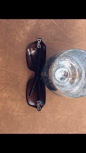 Dolce & Gabbana Oval Sunglasses dark brown
