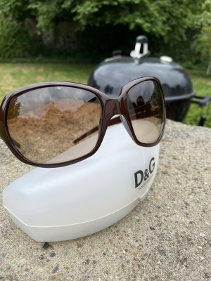 Dolce & Gabbana Ovale zonnebril bruin