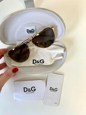 Dolce & Gabbana Aviator Glasses gold-colored metal