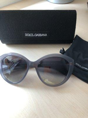 Dolce & Gabbana Lunettes de soleil ovales gris ardoise