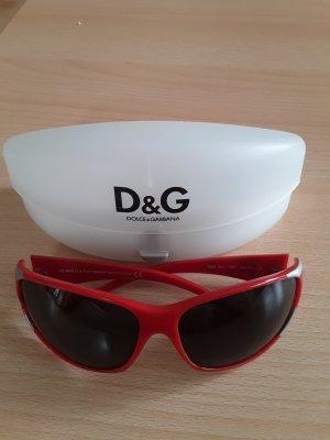Dolce & Gabbana Occhiale da sole ovale rosso neon Acetato