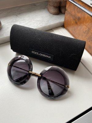 Dolce & Gabbana Occhiale da sole rotondo nero-talpa