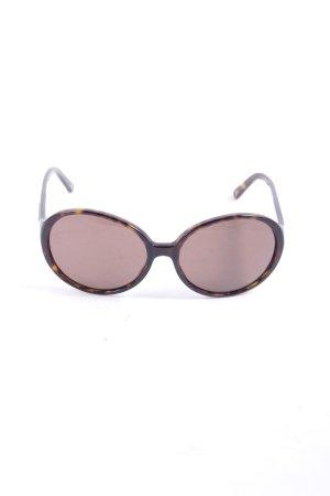 Dolce & Gabbana runde Sonnenbrille dunkelbraun Street-Fashion-Look